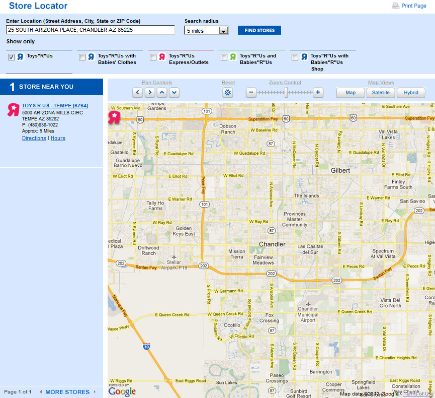 TARGET TOYS R US OFFER MOBILE INSTORE MAPS FOR EASY WAYFINDING