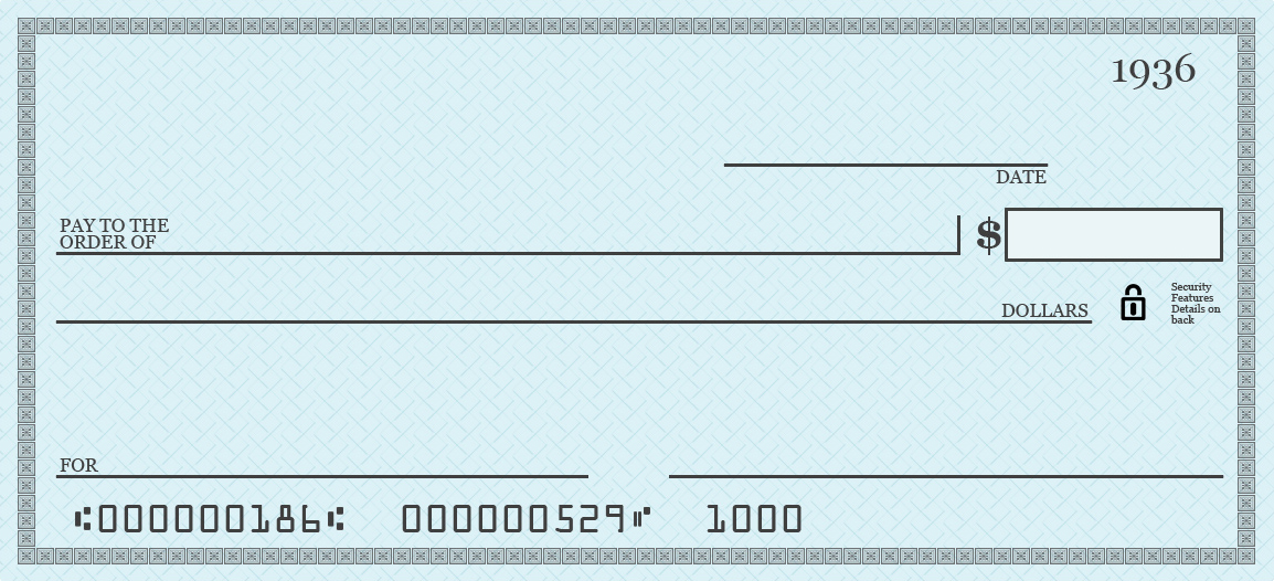 How do you write a check to pay for something for Oversized check template