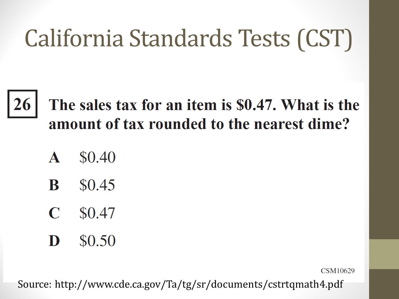 california standard test